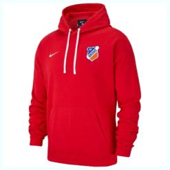 czerwona bluza z kapturem z logo KS Ursus