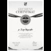Srebrny certyfikat Lojalny Kibic KS Ursus Warszawa