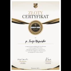 zloty certyfikat lojalny kibic KS Ursus Warszawa